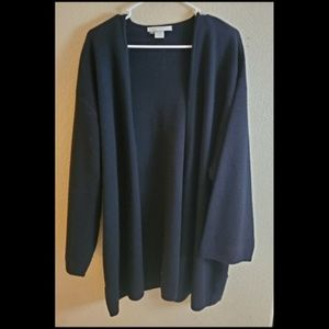 The Limited Black Wool Blend Open Front Cardigan